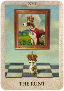 The Runt from Dog Tarot by Marty Blake