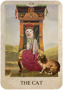 The Cat from Dog Tarot with illustrations by Marty Blake